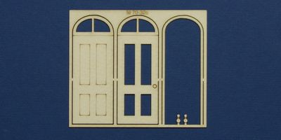 M 70-32c O gauge single door with round transom type 3