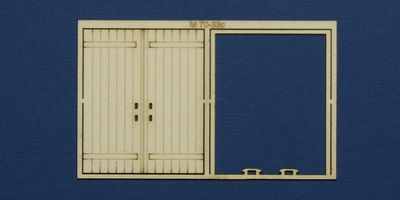 M 70-33c O gauge double industrial door type 1