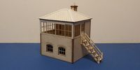 B 70-25R O gauge Small L&CR/LMS signal box - right stairs