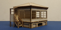 SR 55c LSWR/SR OO gauge platform mounted small signal box