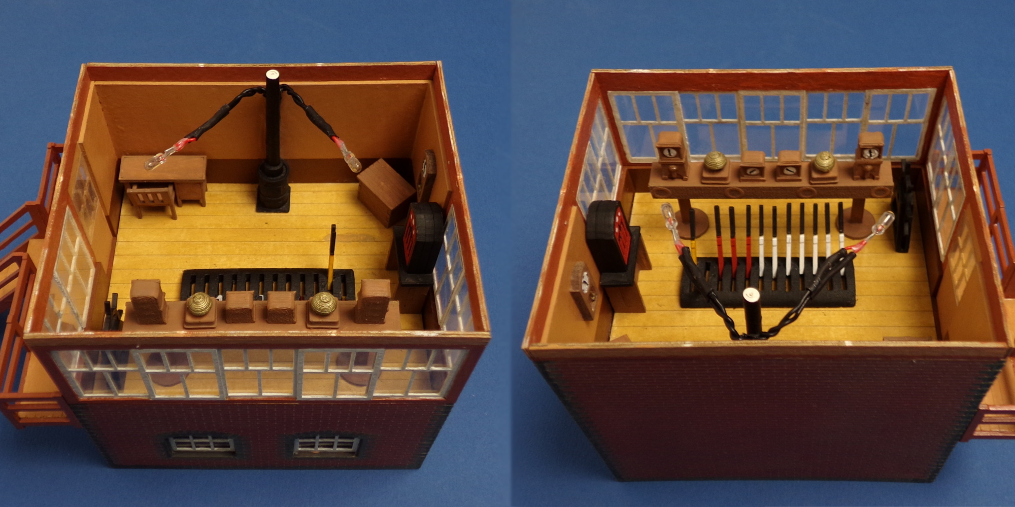 O gauge GWR signal box and interior