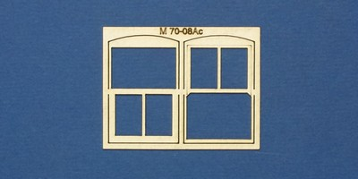 M 70-08Ac O gauge residential window with sash type 2 - arched header