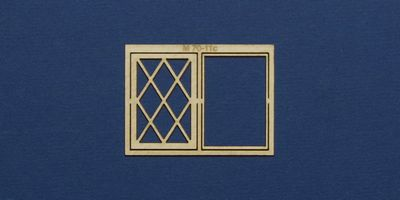 M 70-11c O gauge residential style casement window with lattice type 1