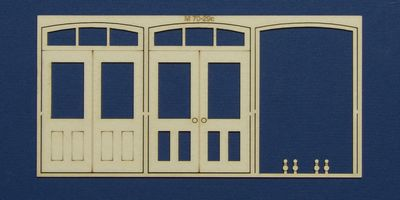M 70-29c O gauge double door with round transom type 2