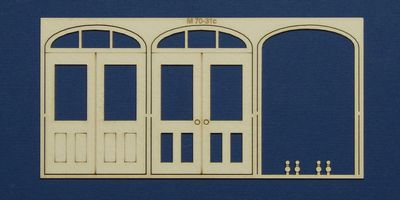 M 70-31c O gauge double door with round transom type 3